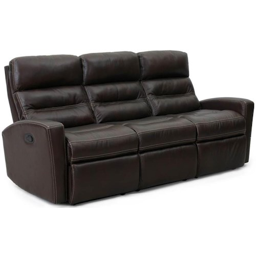 Synergy Home Furnishings 1268 Casual Sofa Recliner with Channel Style Back