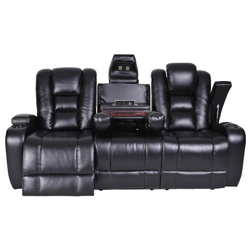 Synergy Furniture Sofa Synergy Home Furnishings 1060 Collection Casual Reclining Sofa