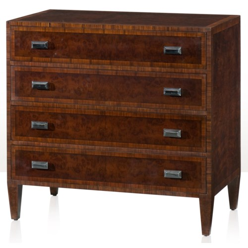Theodore Alexander Vanucci Eclectics Imbuya and Rosewood Crossbanded Chest of Drawers