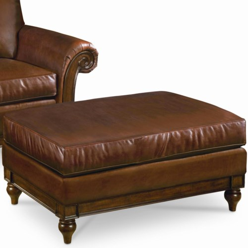 Thomasville® Calgary  Ottoman with Exposed Wood Base