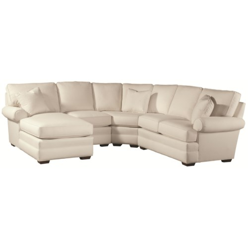 Thomasville® Chesapeake  Family Sectional Sofa with Left Facing Chaise