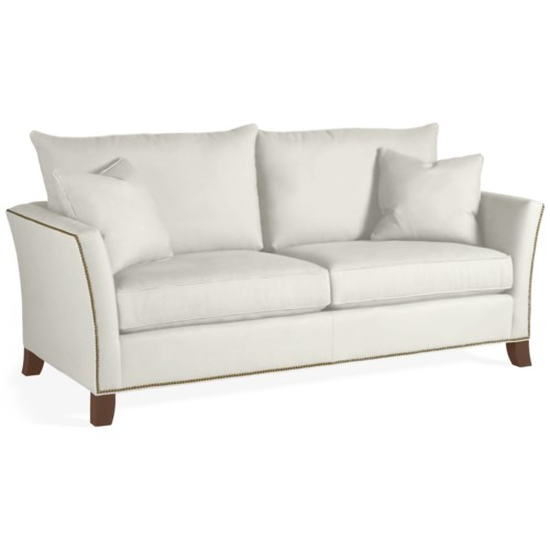 Thomasville® Easton  Modern Upholstered Sofa with Traditional Nail Head Accents