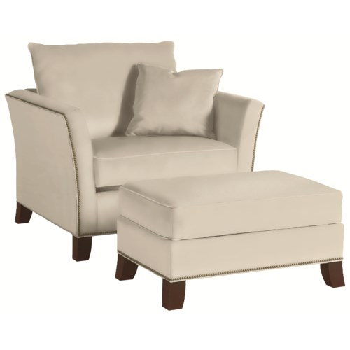 Thomasville® Easton  Contemporary Accent Chair and Ottoman Set