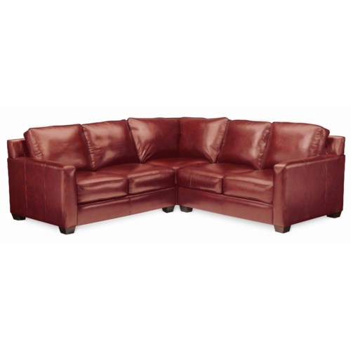 Thomasville® Leather Choices - Metro Select Plus 3-Piece Leather Sectional