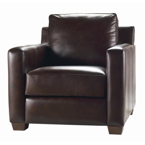 Thomasville® Leather Choices - Metro Leather Select Chair with Track Arms
