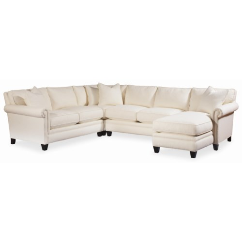 Thomasville® Mercer Series Sectional with Panel Arms