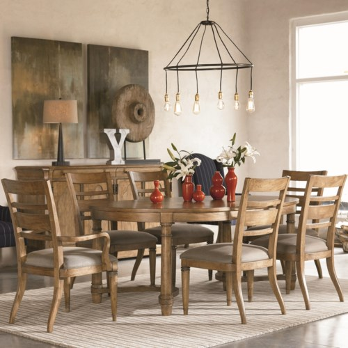 Thomasville® Reinventions 7 Piece Oval Table and Chair Set
