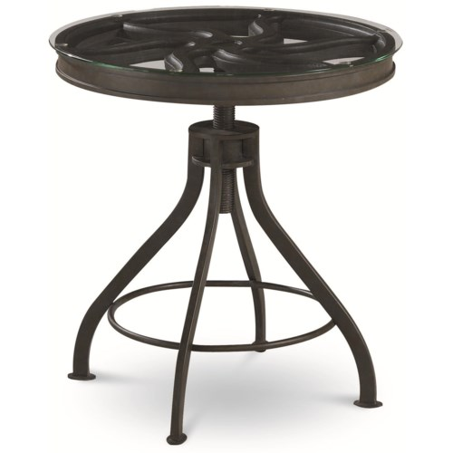 Thomasville® Reinventions Pulley Side Table w/ Glass Top