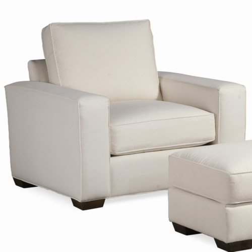 Thomasville® Retreat Contemporary Chair with Tapered Block Feet