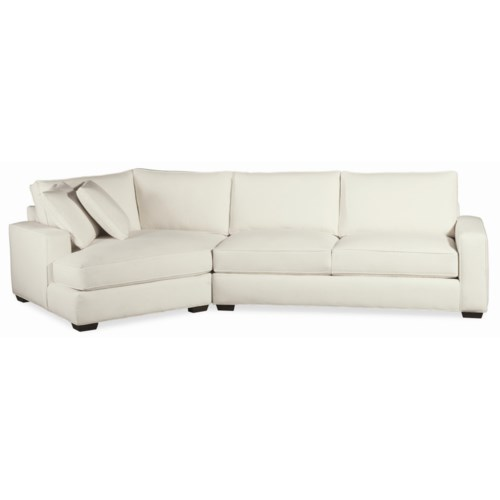 Thomasville® Retreat Contemporary Sectional with Tapered Block Feet