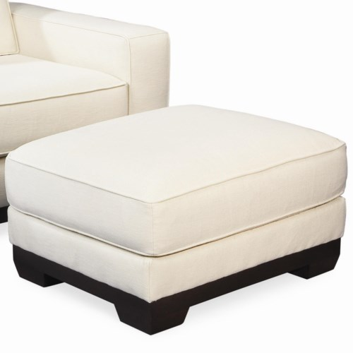Thomasville® Retreat Contemporary Ottoman with Wood Base