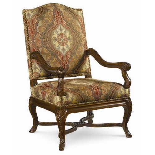 Thomasville® Upholstered Accents Lucca Chair with Wood Arms and Base