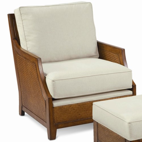 Thomasville® Upholstered Accents Tortola Chair with Exposed Wood