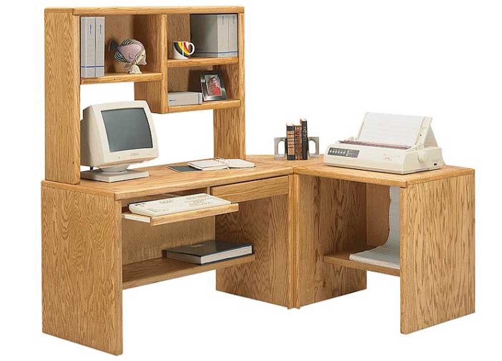 Thornwood 700 Series Light Oak Desk With Hutch And Printer Stand