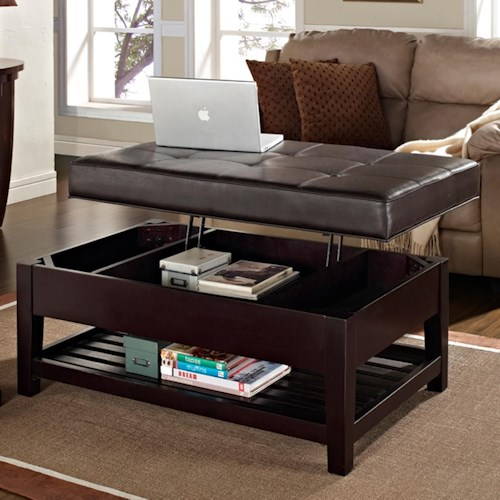 Three Keys Ottoman Accents Tufted Cocktail Ottoman With