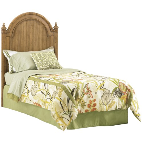 Tommy Bahama Home Beach House Queen-Size Belle Isle Headboard with Bamboo Accents