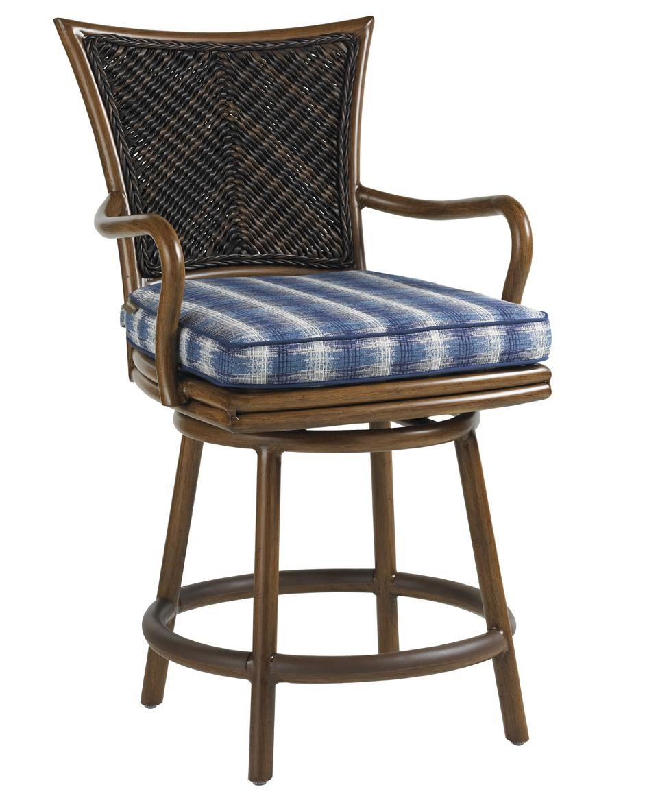 Tommy Bahama Outdoor Living Island Estate Lanai Outdoor Swivel Counter Stool : Baeru0026#39;s Furniture ...