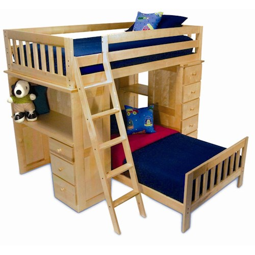 Tradewins Birch Youth Twin Loft Bed Manhattan Seneca Clay Center