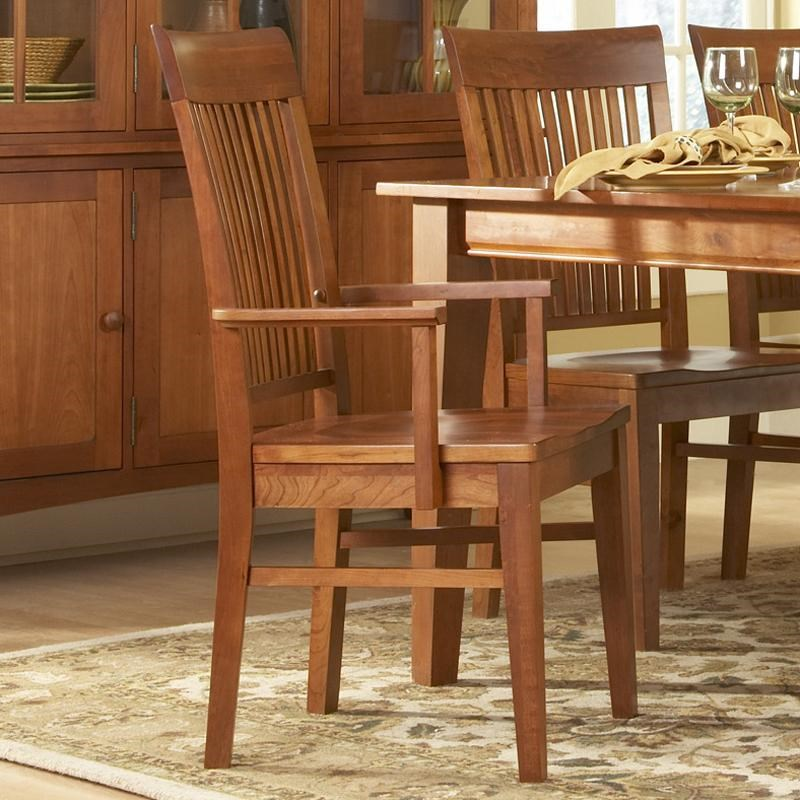 Tradewins Cherry Expressions Dining Arm Chair Wooden Seat