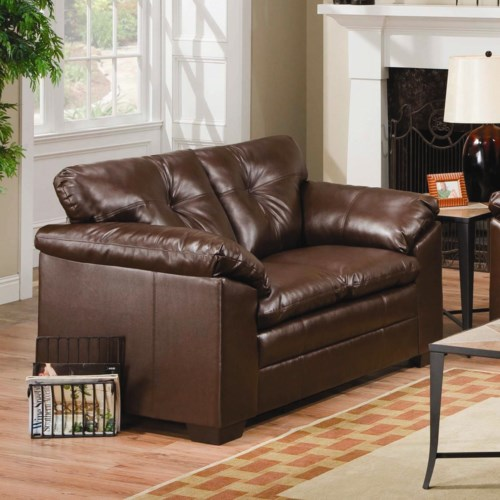 Simmons Upholstery 6569 Upholstered Loveseat with Tufted Back