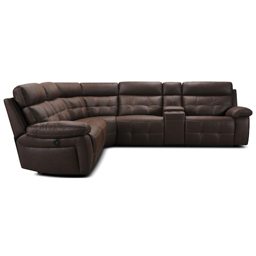 Violino 31736 Six Piece Reclining Sectional Sofa with Power Headrest and USB Ports