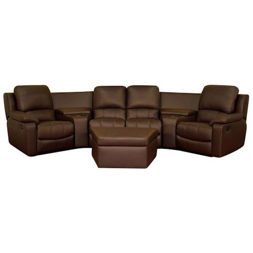 Wholesale Interiors Wholesale Interiors Theater Seating Contemporary Home Theater Curved Seating with Ottoman
