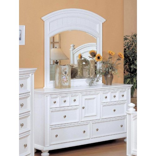 Winners Only Cape Cod  6 Drawer Dresser and Landscape Mirror Combination