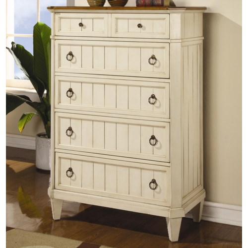 Flexsteel Wynwood Collection Garden Walk Six-Drawer Chest