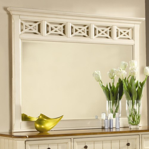 Flexsteel Wynwood Collection Garden Walk Landscape Dresser Mirror
