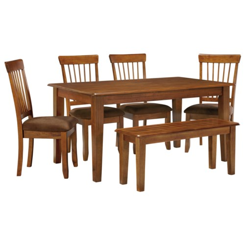 Berringer 36 x 60 table with 4 chairs bench walker 39 s for Dining room table 60 x 36
