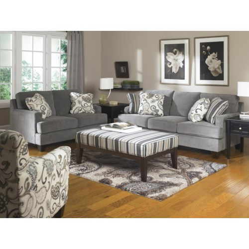 Stationary living room group regency furniture upholstery group