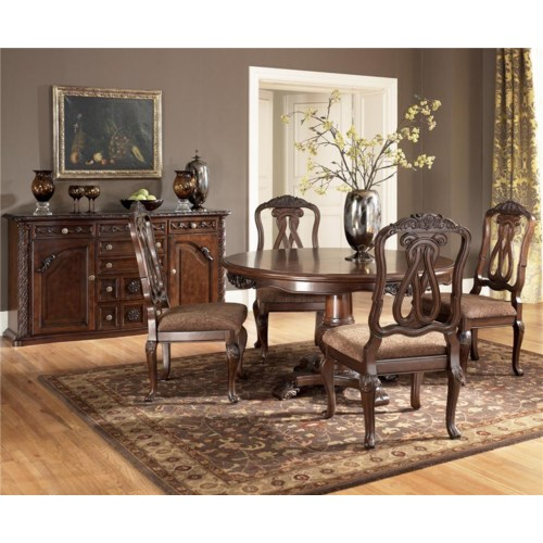 millennium by ashley north shore 5 piece table chair set