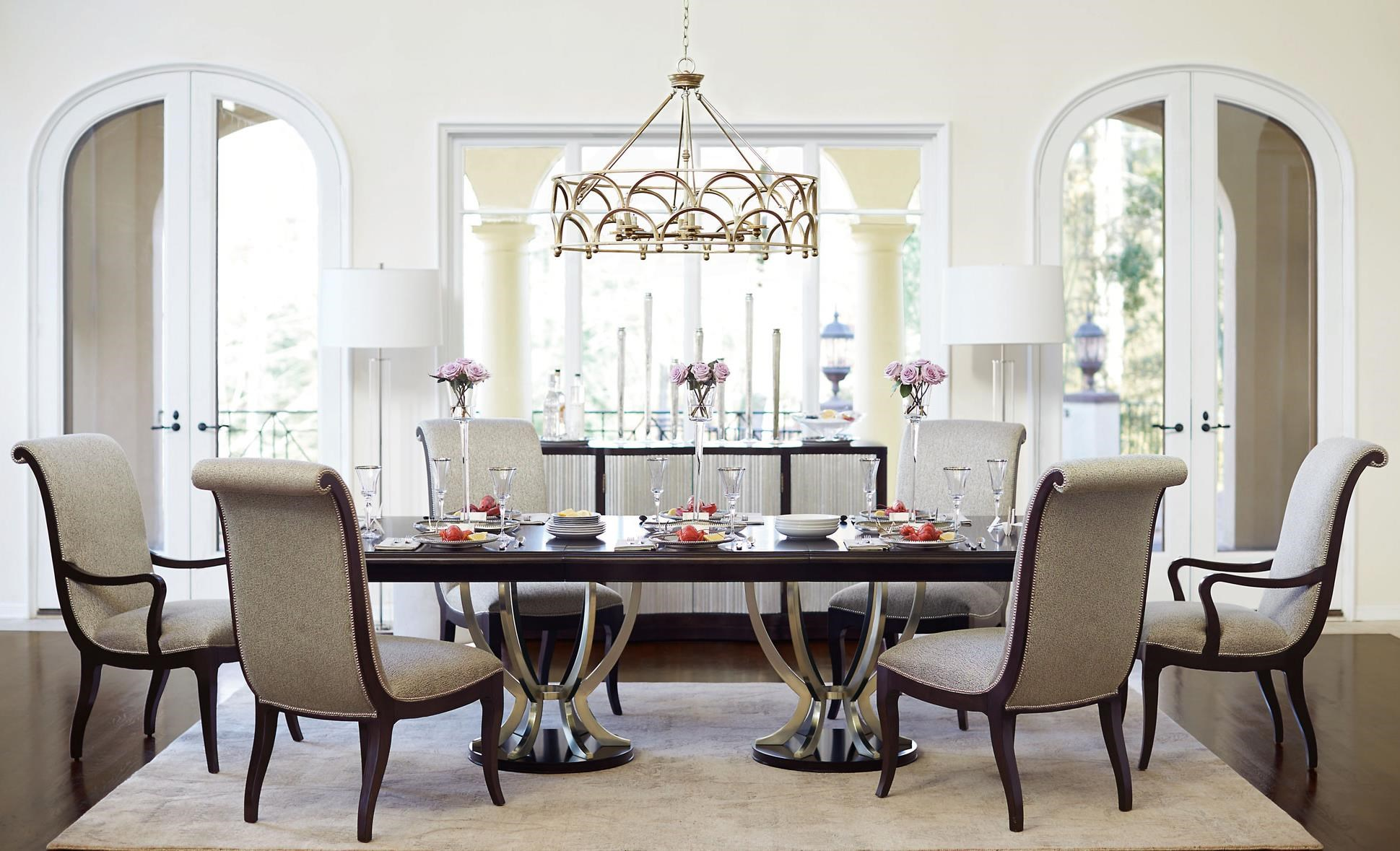 Bernhardt Miramont 7 Piece Dining Table and Chair Set