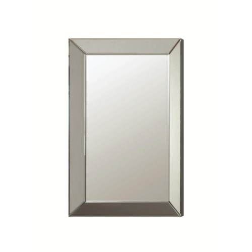 coaster accent mirrors contemporary frameless beveled