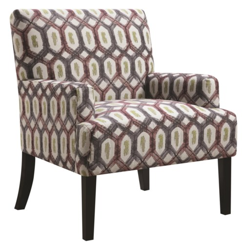 coaster accent seating geometric patterned accent chair