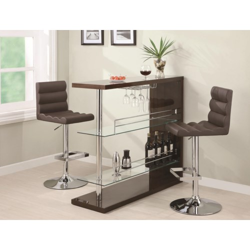 coaster bar units and bar tables sleek contemporary bar set with