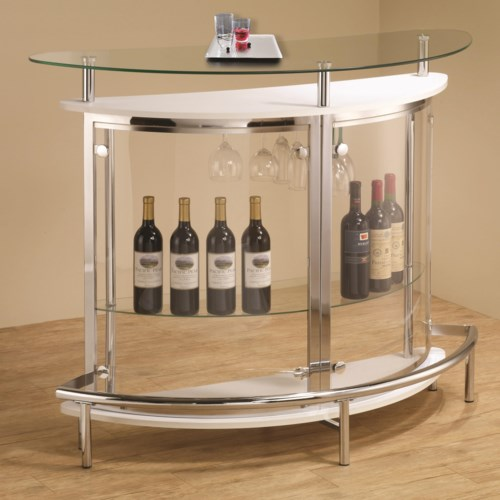 Coaster Bar Units And Bar Tables Contemporary Bar Unit With Clear Acrylic Front Coaster Fine