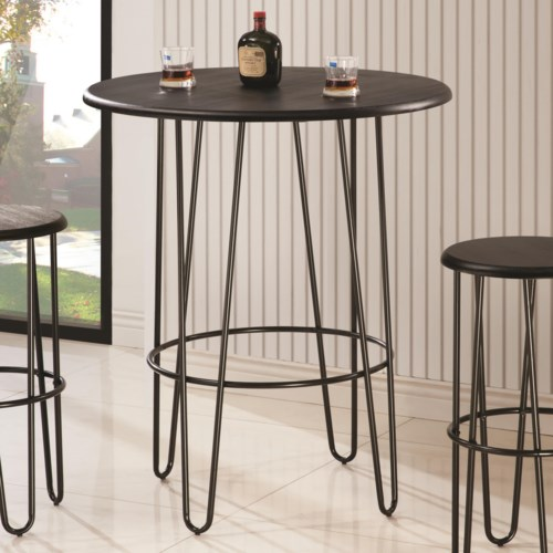 Coaster Bar Units And Bar Tables Bar Table With Hair Pin Style Legs Coaster Fine Furniture: home bar furniture amazon