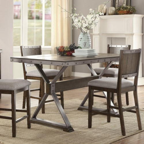 Coaster Beckett Rustic Counter Height Dining Table