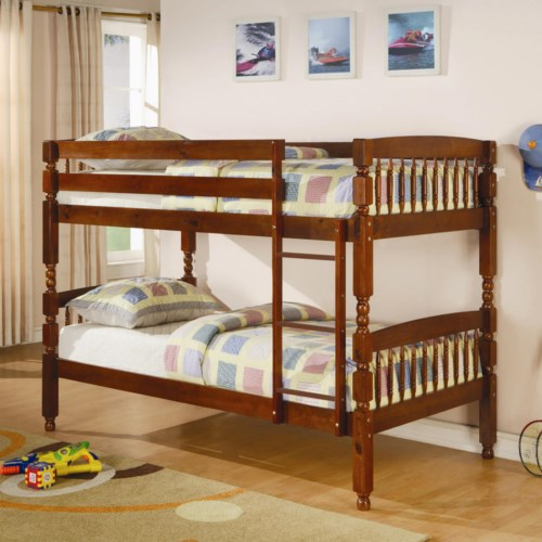 Coaster bunks twin over twin bunk bed coaster fine furniture for Bunk bed and bang