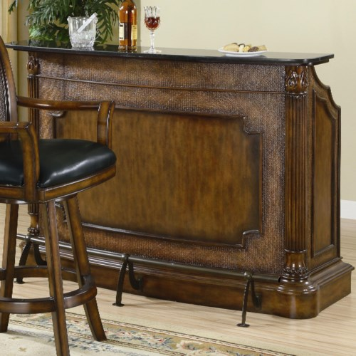 Coaster Clarendon Traditional Bar With Marble Top Coaster Fine Furniture