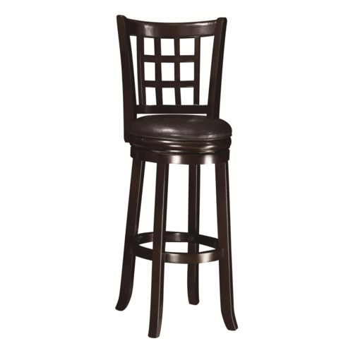 Coaster dining chairs and bar stools 29 h swivel bar stool coaster fine furniture Home bar furniture amazon