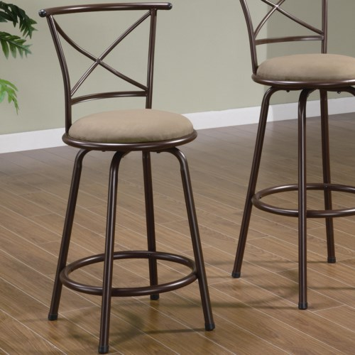 Coaster dining chairs and bar stools 24 metal bar stool with upholstered seat coaster fine Home bar furniture amazon