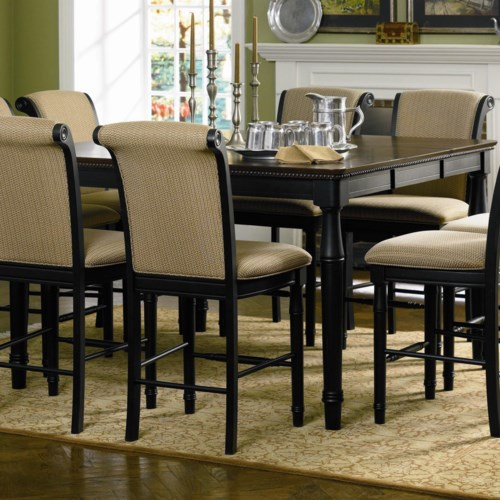Coaster cabrillo counter height dining table with leaf for Coaster co of america furniture