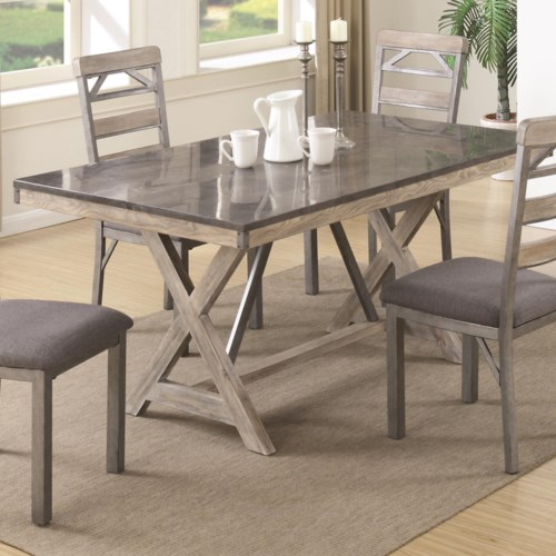 coaster edmonton dining table with bluestone laminate top
