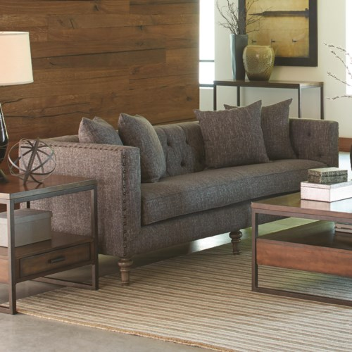 Coaster ellery sofa with traditional industrial style for Sofa industrial