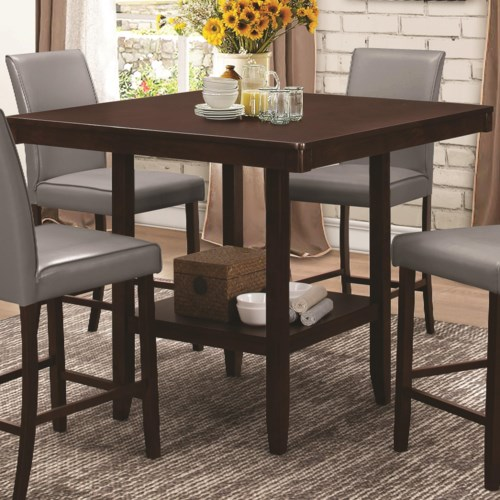 home dining room pub tables coaster fattori counter height table