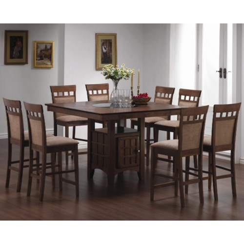and stool sets coaster mix match 9 piece counter height dining