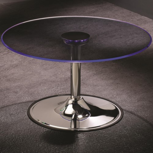Coaster led transitioning led coffee table with chrome for Cocktail tables led
