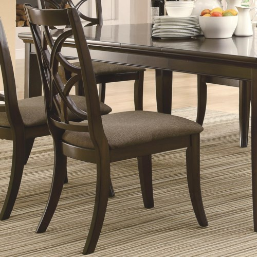 Coaster Meredith Dining Side Chair w Fabric Cushion